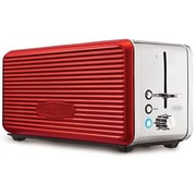 Sensio Bella Linea Collection 4-Slice Long Slot Toaster, Red (14087)