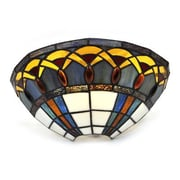 It's Exciting™ Lighting Smart Solar LED Stained Glass Half Moon Sconce with Jewels (IELAMB1003)
