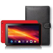 "Supersonic® SC-5317 7"" Tablet and Keyboard Case Bundle, 8GB, Android 4.4 KitKat, Red"
