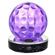 Supersonic® SC1389BT 3 W Bluetooth Disco Ball Speaker, Purple
