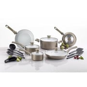 T-fal® Initiatives 14-Piece Cookware Set, Champagne (C728SE64)