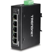 TRENDnet® TIG50 5 Port Hardened Industrial Gigabit Ethernet Unmanaged DIN-Rail Switch