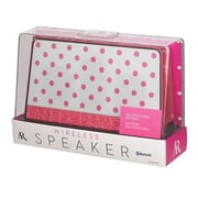 Voxx Acoustic Research® ARS140PD Fashion Portable Bluetooth Speaker, Pink Polka Dot