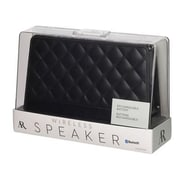 Voxx Acoustic Research® ARS140QT Fashion Portable Bluetooth Speaker, Black Quilted