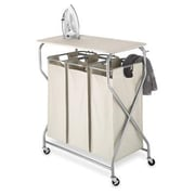 Whitmor Easy-Lift™ Triple Sorter with Folding Table, Silver (6640-4982)