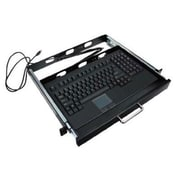 Adesso® EasyTouch 730 USB Wired Touchpad Keyboard with Rackmount, Black