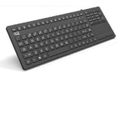 Adesso® Slimtouch™ 270 USB Wired Antimicrobial Waterproof Touchpad Keyboard, Black