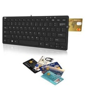 Adesso® SlimTouch Mini Keyboard with Smart Card Reader and 2-Port USB Hub, Black (AKB510RB)