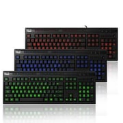Adesso® EasyTouch 130 USB Wired Illuminated Multimedia Keyboard, Black