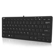 Adesso® Slimtouch™ 510 USB Wired Mini Keyboard, Black