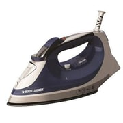 Black & Decker™ Xpress Steam Iron, White/Blue (IR08X)