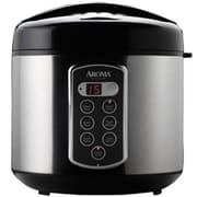 Aroma® Professional™ 20 Cup Cool Touch Digital Rice Cooker, Silver/Black (ARC2000SB)