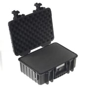 B&W Type 4000 Outdoor Case with Removable Pre-Cut Foam Insert, Black