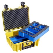 B&W Type 3000 Outdoor Case with Prefabricated Foam Inserts, Yellow