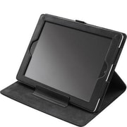 Codi® C30709000 Ballistic Nylon/Faux Folio Case for iPad 2-4, Onyx Black