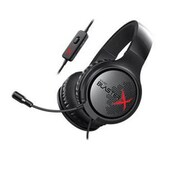 Creative® Sound Blaster 70GH034000000 X H3 Stereo Over-the-Head Gaming Headset with Mic, Black