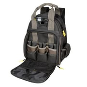Custom Leathercraft® Tech Gear™ 53 Pocket Lighted Tool Back Pack, Black (L255)