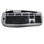 Digital Persona® crossmatch™ 88009001 USB Wired U.are.U® Fingerprint Keyboard, Black/Silver