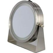 Floxite 8x/1x Home and Travel Mirror, Brushed Nickel (FL81BAT)
