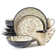 Gibson® Elite Zambezi Stoneware 16-Piece Dinnerware Set, Cream, 63306.16