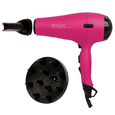 Helen of Troy Revlon Pro AC Ionic Hair Dryer, Pink (RVDR5141PNK)