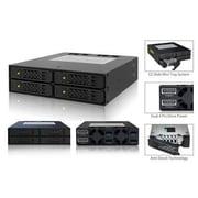 "Icy Dock® ToughArmor 2.5""/5.25"" Internal SAS/SATA HDD/SSD Backplane Cage, Black (MB994SP4S)"