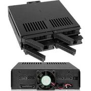 "Icy Dock® ExpressCage 2.5""/5.25"" Internal SATA/SAS HDD/SSD Mobile Rack Enclosure, Black (MB324SPB)"