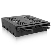 "Icy Dock® ExpressCage 2.5""/3.5""/5.25"" Internal SATA/SAS HDD/SSD Mobile Rack Enclosure, Black (MB322SPB)"