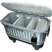Igloo® Party Bar™ Powered By Liddup® 125 qt. Illuminated Cooler, Silver/Black (49271)