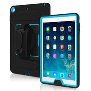 Incipio® IPD333BLKCYN Capture Plextonium Ultra Rugged Case for iPad Air, Black/Blue