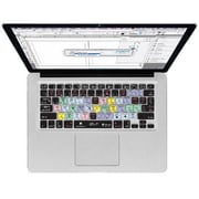 KB Covers InDesign Black Silicone Keyboard Cover for MacBook (IDMCC2)