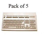 Keytronic E03601P15PK PS/2 Wired Keyboard, Beige