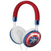 KIDdesigns CAM48FX Captain America Fashion On-the-Head Headphones with Mic, Multicolor