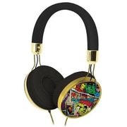 KIDdesigns MVM48 Comic Fashion On-the-Head Headphones with Mic, Multicolor