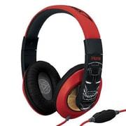 KIDdesigns ViM40IM Avengers Iron Man On-the-Head Headphones with Mic, Multicolor