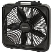 "Lasko® 22 1/2"" x 21 1/2"" x 4 1/2"" Weather-Shield® Select Box Fan with Thermostat, Black (B20570)"