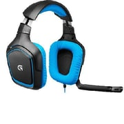 Logitech G430 Surround Over-the-Head Gaming Headphones with Mic, Black