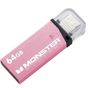 Monster Digital® USBOM-0064-P 64GB USB 3.0 On-the-Go Flash Drive