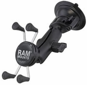 RAM Mount® Twist Lock Suction Cup Mount with Cell/iPhone Cradle, Black (B166UN7)