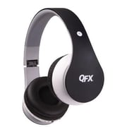 QFX® H251BT Stereo Bluetooth Over-the-Head Headphones with Mic, Black/Red