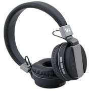 QFX® H255BT Stereo Bluetooth Over-the-Head Headphones with Mic, Black