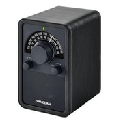 Sangean WR-15 FM/AM Wooden Cabinet Receiver, Black
