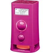 Sangean K-200 FM-RDS (RBDS)/AM/Aux-In Digital Tuning Clock Radio, Pink