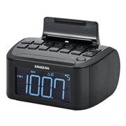 Sangean RCR-28 FM/AM/Aux-In Digital Tuning Clock Radio Compatible with iPhone/iPod, Black