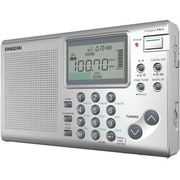 Sangean ATS-405 FM-Stereo/AM/SW World Receiver, Silver