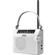 Sangean PR-D6 FM/AM Compact Analog Tuning Portable Receiver, White