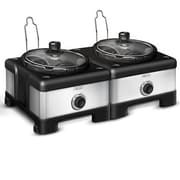 BELLA® 2 x 2.5 qt. Linkable Slow Cooker System, Red/Black (13972)