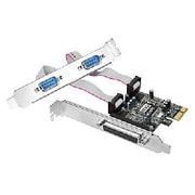 SIIG® Cyber 2S1P 3-Port PCIe Serial/Parallel Combo Adapter (JJP21211S1)