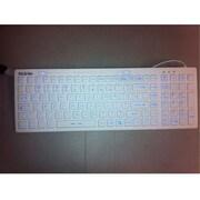 Solidtek® KB-IKB106BL Washable USB Wired Keyboard for Computer, White