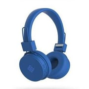 Southern Telecom Polaroid PBT89 Stereo Bluetooth Over-the-Head Headset with Mic, Neon Blue